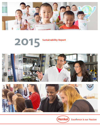 Sustainability Report 2015 cover